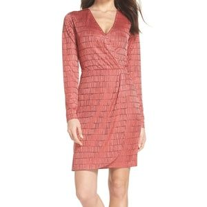 FRENCH CONNECTION Jacquard Faux Wrap Dress